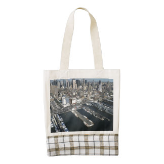 Port in New York City Zazzle HEART Tote Bag
