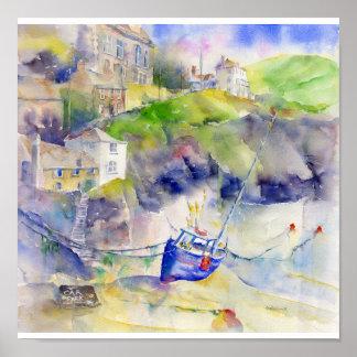 Port Isaac Cornwall Poster