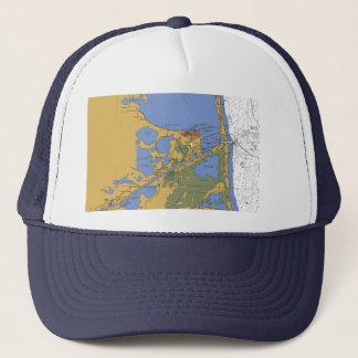 Port Isabel Texas nautical Harbor Chart Hat