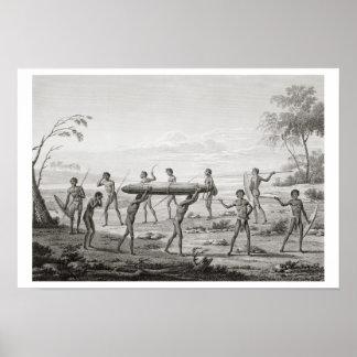 Port Jackson, New Holland: Aboriginal burial cerem Poster