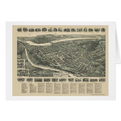 Port Jervis, NY Panoramic Map - 1920 Card