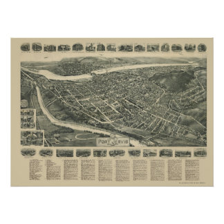 Port Jervis, NY Panoramic Map - 1920 Poster