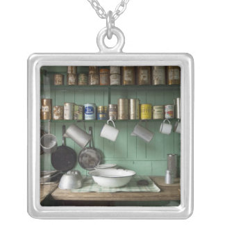 Port Lockroy base in antarctica Silver Plated Necklace