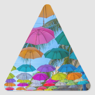 port louis le caudan waterfront umbrellas cap triangle sticker