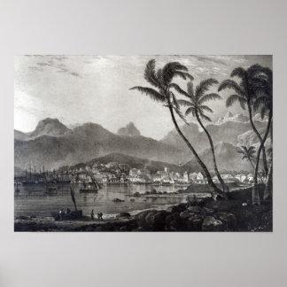 """Port Louis """"opiniónes en el Mauricio"""" cerca Póster"""