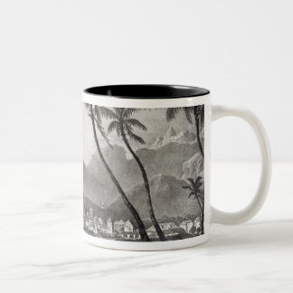 Port Louis 'Views in the Mauritius' by Two-Tone Coffee Mug