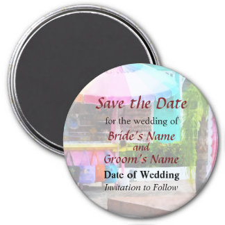Port Lucaya Marketplace Bahamas Save the Date 3 Inch Round Magnet