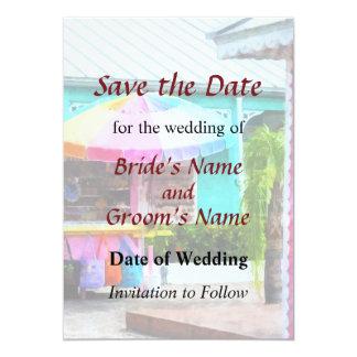 Port Lucaya Marketplace Bahamas Save the Date Card