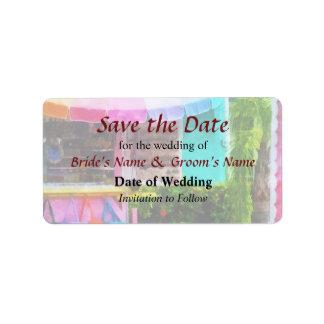 Port Lucaya Marketplace Bahamas Save the Date Label