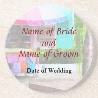 Port Lucaya Marketplace Bahamas Wedding Products Sandstone Coaster