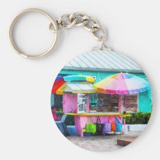 Port Lucaya Marketplace Basic Round Button Keychain