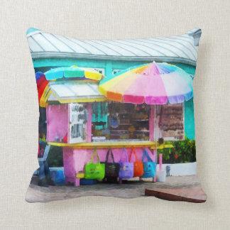 Port Lucaya Marketplace Throw Pillow