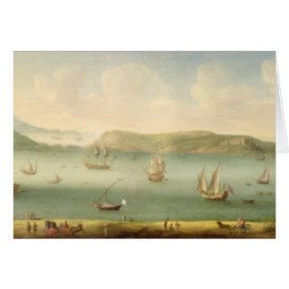 Port Mahon, Minorca, 1730's (oil on canvas) Card