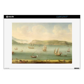 """Port Mahon, Minorca, 1730's (oil on canvas) Decals For 15"""" Laptops"""