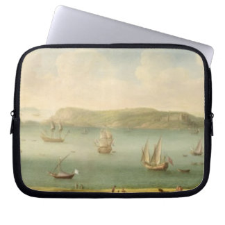 Port Mahon, Minorca, 1730's (oil on canvas) Laptop Sleeves