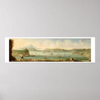 Port Mahon, Minorca, 1730's (oil on canvas) Posters