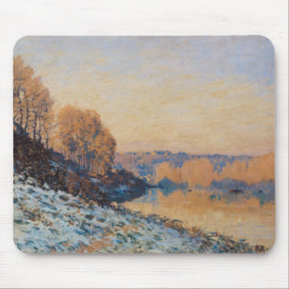Port-Marly, White Frost, 1872 Mousepad