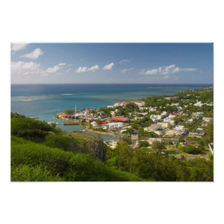 Port Mathurin, Rodrigues Island, Mauritius Poster
