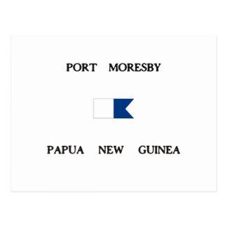 Port Moresby Papua New Guinea Alpha Dive Flag Postcard