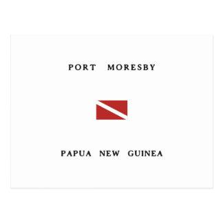 Port Moresby Papua New Guinea Scuba Dive Flag Postcard