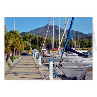 Port of Argelès-sur-Mer in France Card