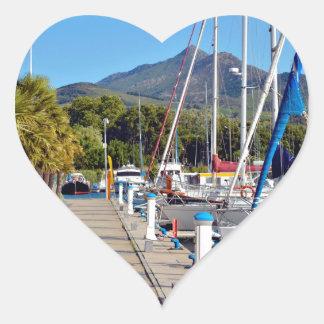 Port of Argelès-sur-Mer in France Heart Sticker