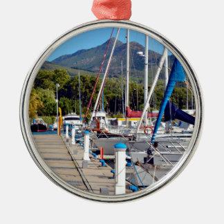 Port of Argelès-sur-Mer in France Metal Ornament
