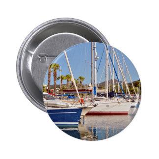Port of Argelès-sur-Mer in France Pinback Buttons