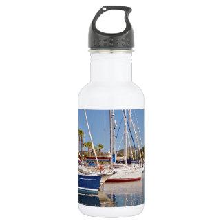 Port of Argelès-sur-Mer in France Stainless Steel Water Bottle