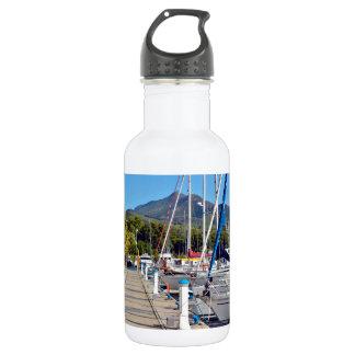 Port of Argelès-sur-Mer in France Water Bottle