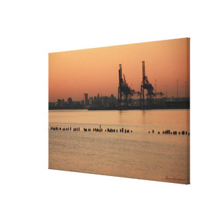 Port of Baltimore Sunset Stretched Canvas Prints