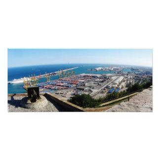 Port of Barcelona Art Photo