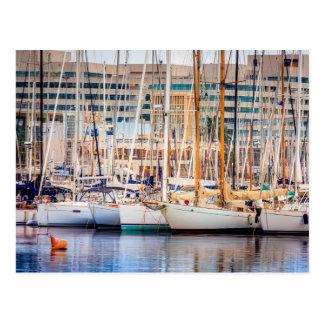 Port Of Barcelona Postcard