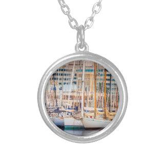 Port Of Barcelona Round Pendant Necklace