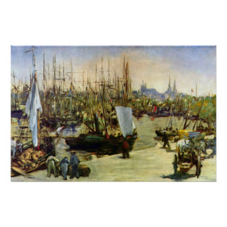 Port of Bordeaux by Edouard Manet Poster