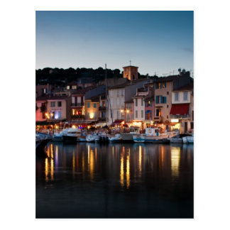 Port of Cassis at night Postcard