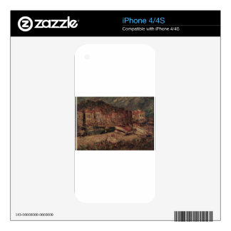 Port of Cassis by Adolphe Joseph Thomas Monticelli Skin For iPhone 4S