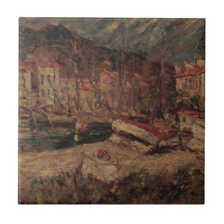 Port of Cassis by Adolphe Joseph Thomas Monticelli Tile