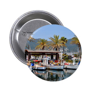 Port of Cavalaire-sur-Mer in France Pinback Button