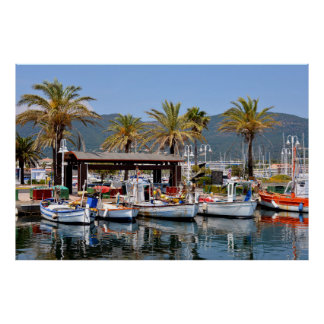 Port of Cavalaire-sur-Mer in France Poster