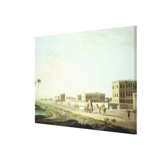Port of Cheringhee, Calcutta, plate 32 from 'Orien Stretched Canvas Prints