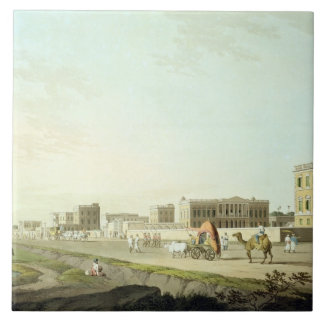 Port of Cheringhee, Calcutta, plate 32 from 'Orien Large Square Tile