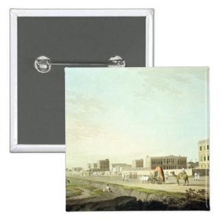 Port of Cheringhee, Calcutta, plate 32 from 'Orien Pinback Button