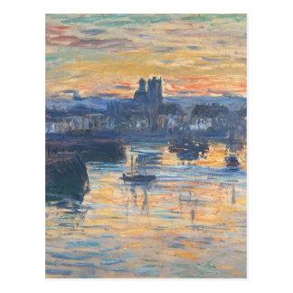 Port of Dieppe, Evening by Claude Monet Postcard