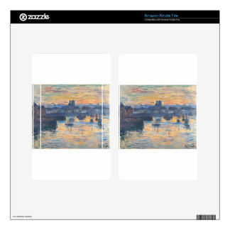 Port of Dieppe, Evening by Claude Monet Skins For Kindle Fire
