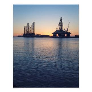 Port of Galveston Oil Rigs Photo Print