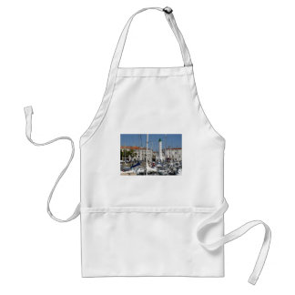Port of La Rochelle in France Adult Apron