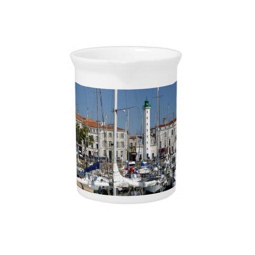 Port of La Rochelle in France Drink Pitchers