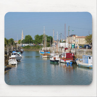 Port of La Tremblade in France Mouse Pads