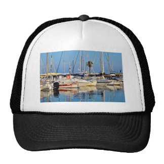 Port of Le Lavandou in France Trucker Hat